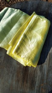 2 Yellow Table Runners Satin