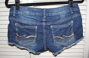 Almost Famous Clothing Cut Off Shorts Blue