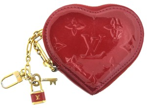 Louis Vuitton Louis Vuitton Heart Monogram Vernis Red Coin Purse Pouch