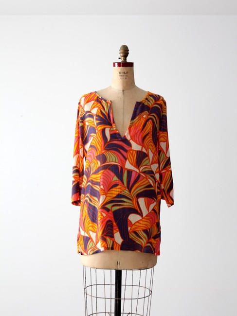 J.Crew Floral Tropical Cotton Tunic