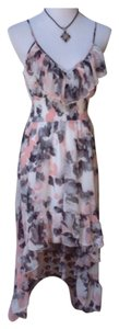 Love Culture short dress Pink, gray, ivory on Tradesy