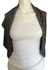 Alice + Olivia Sequin Shrug Top Grey/Silver