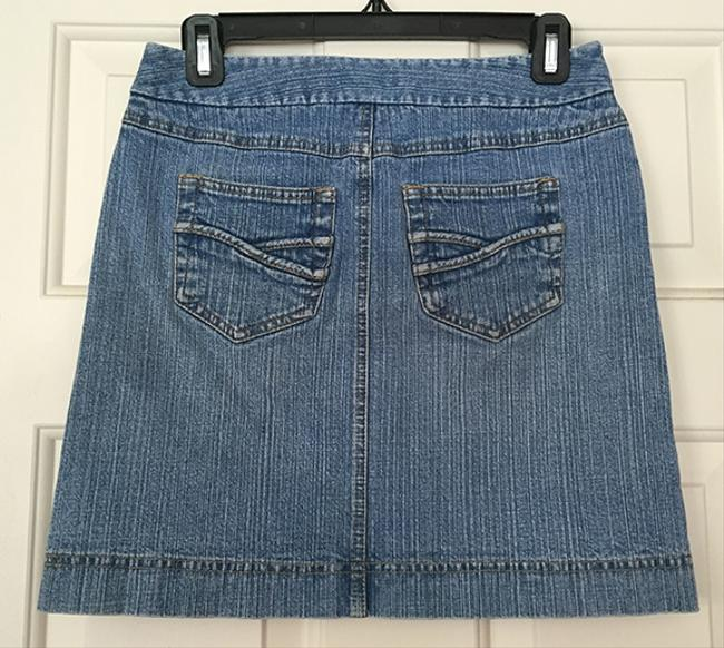 Ann Taylor LOFT Mini Skirt Denim