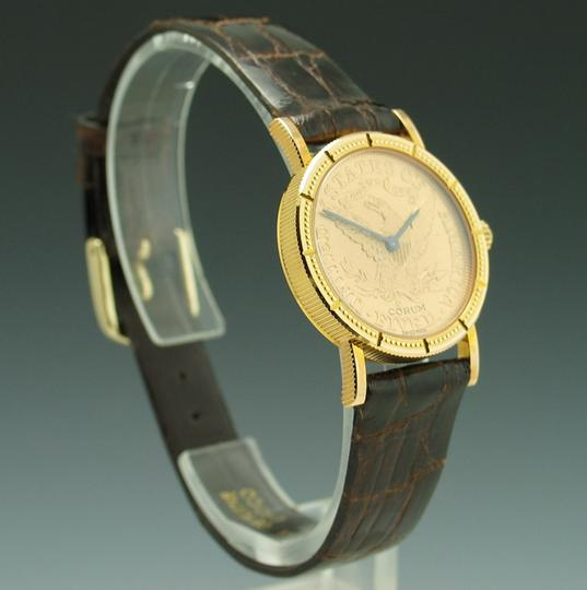 Corum Lady's Corum $5 Gold Piece 18K & 22K Yellow Gold Hand-wind Mechanical Coin Watch