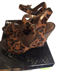 Sam Edelman Calf Hair Leopard Wedges