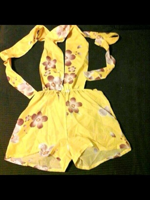 Other New Vibrant yellow tie up romper play suit