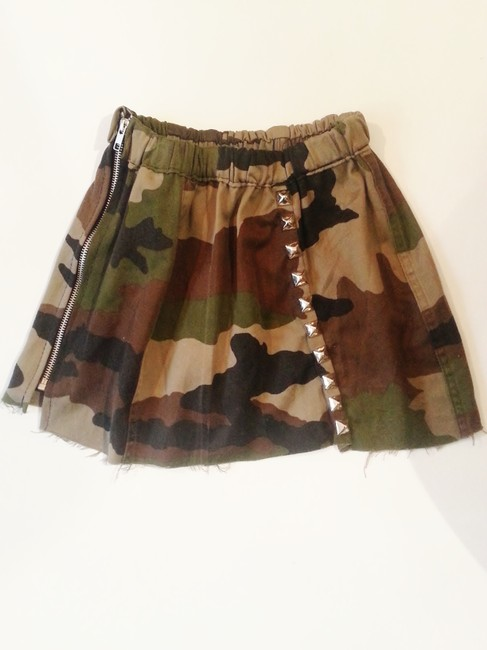 Urban Outfitters Camisole Camo Studs Studded Mini Skirt green