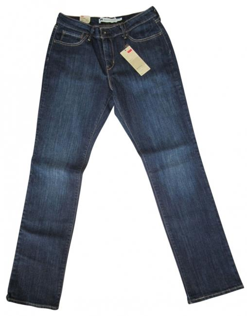 Levi's Tags Still On Classic Straight Leg Jeans-Dark Rinse