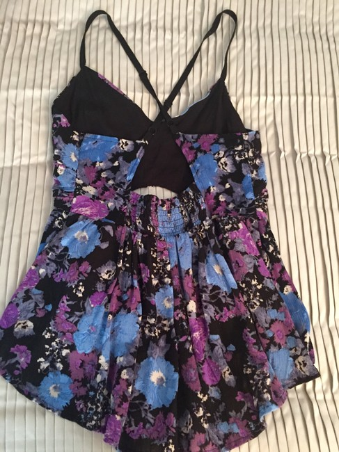 Free People Foral Floral Floral Floral Cut Cut Cut Shirt Shirt With Cut Cut Shirt Top
