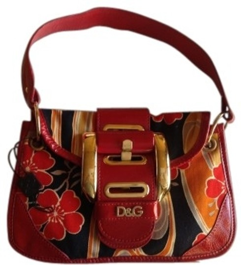 Preload https://item2.tradesy.com/images/dolce-and-gabbana-floral-redblackgoldorange-cotton-and-leather-shoulder-bag-41376-0-0.jpg?width=440&height=440