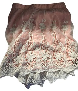 Abercrombie & Fitch Mini Skirt Pink and White