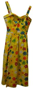 Yellow Floral Maxi Dress by Bettie Page