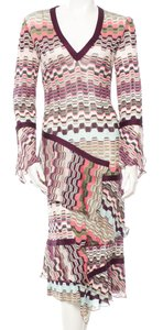 Missoni Striped V-neck Longsleeve Knit Dress
