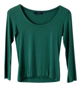 Piazza Sempione Scoop Neck Three Quarter Top Green