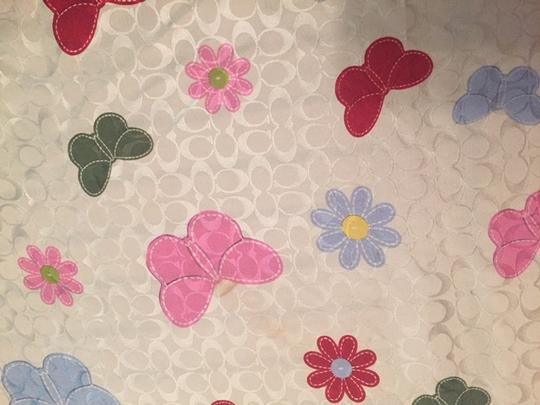 Coach Coach Signature C Butterflies and flowers scarf