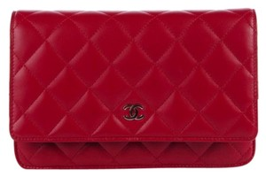 Chanel Wallet On A Chain WOC Quilted Lambskin CC Flap 12C Crossbody Bag
