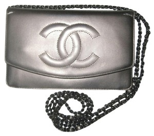 Chanel Chanel Wallet On A Chain Woc Timeless Patent Leather Cc Logo Flap Classic 2.55 Silver Hardware Shw Metallic Bronze Cross Body Bag