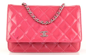 Chanel Patent Leather Woc Wallet On A Chain Mini Cross Body Bag