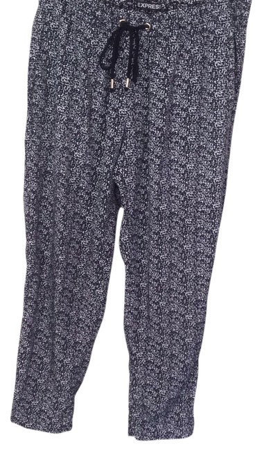 Express Relaxed Pants Black and white