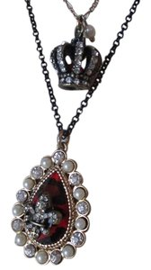 Betsey Johnson Betsey Johnson long layered pendant necklace