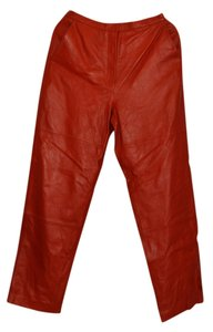 Terry Lewis Straight Pants Dark Rust
