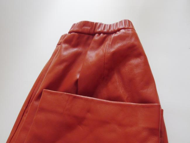 Terry Lewis Classic Luxuries Straight Pants Dark Rust