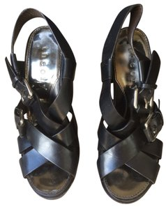 Theory Black Sandals