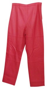 Terry Lewis Straight Pants Dark Pink