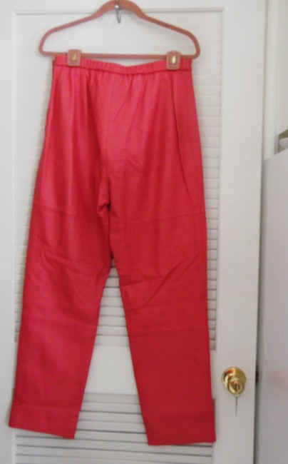 Terry Lewis Classic Luxuries Straight Pants Dark Pink