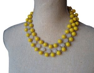 Nordstrom Yellow and clear beaded necklace