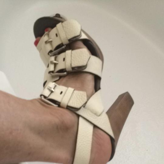 Theory Off White Sandals