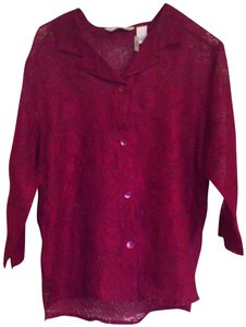 French Laundry Top Maroon