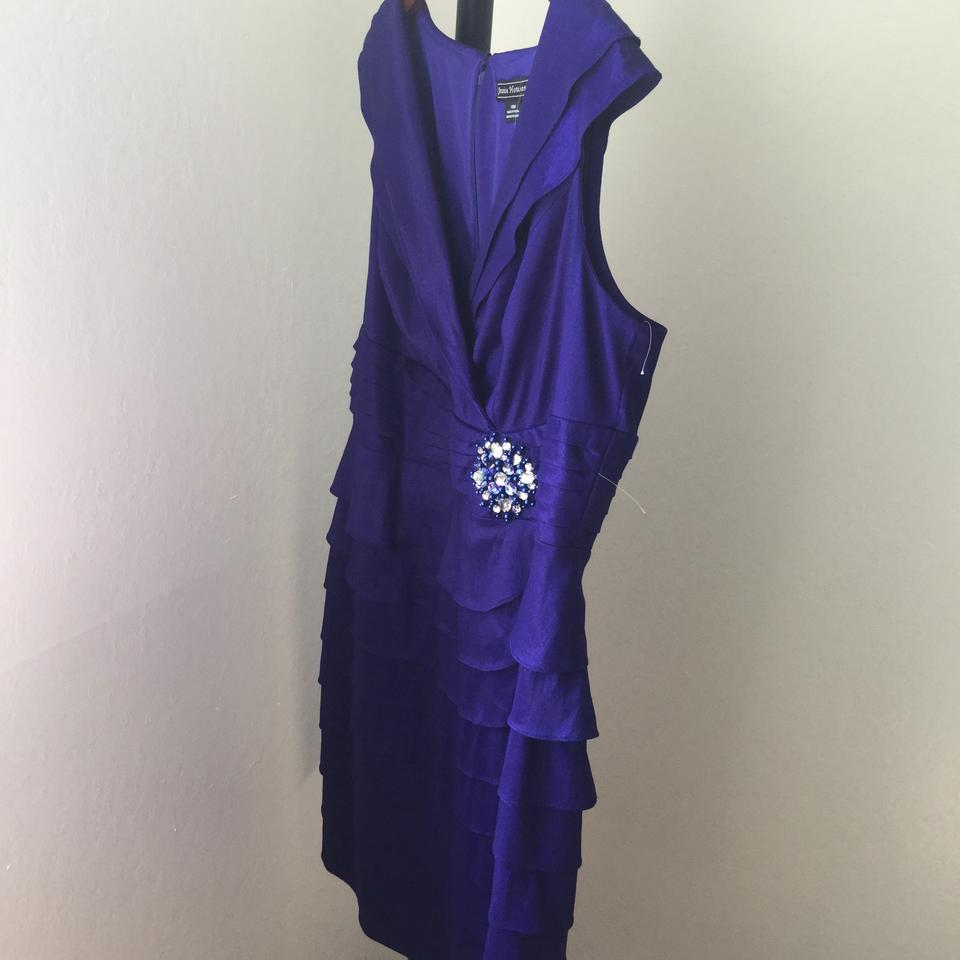 Jessica Howard * Purple Gown * Crystal Brooch * Mid-length Formal Dress  Size 18 (XL, Plus 0x) 24% off retail