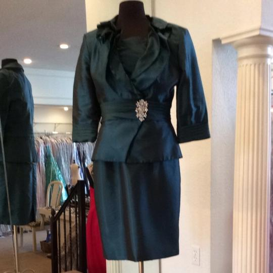 Jade Couture Teal Bridesmaid/Mob Dress Size 10 (M)