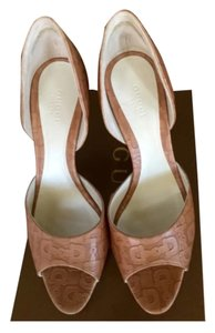 Gucci Brown beige Pumps