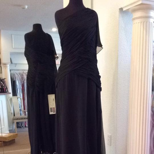 Jade Couture Black Tulle Bridesmaid/Mob Dress Size 14 (L)