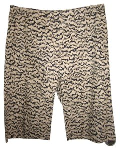 GERARD DAREL Bermuda Shorts Black Beige Brown
