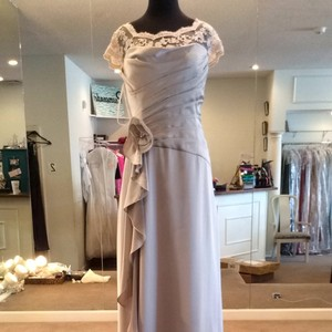 Jade Couture Sterling Satin Bridesmaid/Mob Dress Size 10 (M)