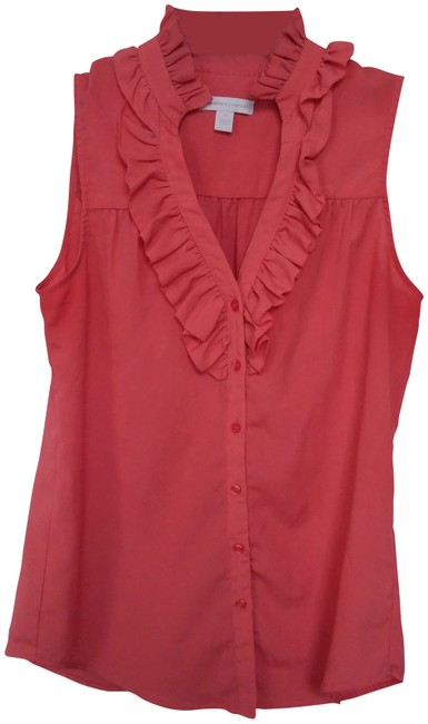 New York & Company Top Coral