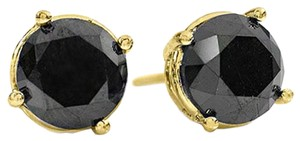 18K,Yellow,Gold,Jewelry,2.0,ctw,Black,Diamond,Stud,Earrings