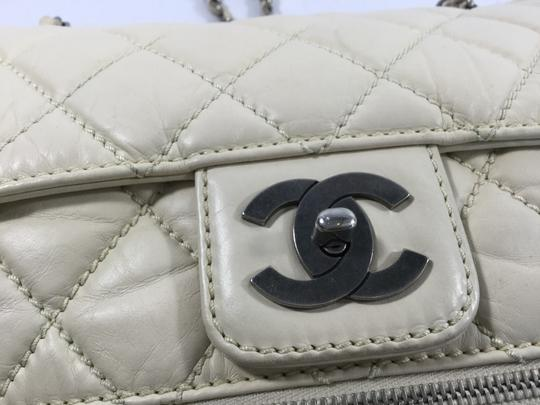 Chanel Quilted Expandable Single Flap Leather Shoulder Bag