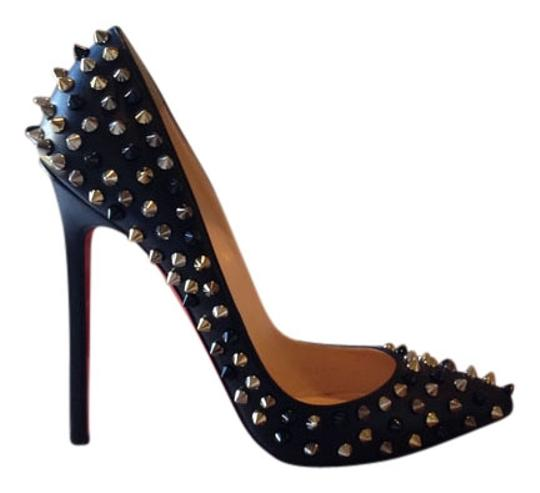 1deeed87e0c Christian Louboutin Black Pigalle Spikes Red Sole Pumps Size US 8 15% off  retail