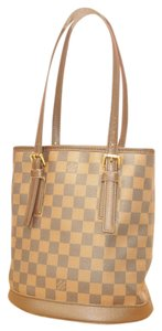 Louis Vuitton Vintage Leather Damier Shoulder Bag