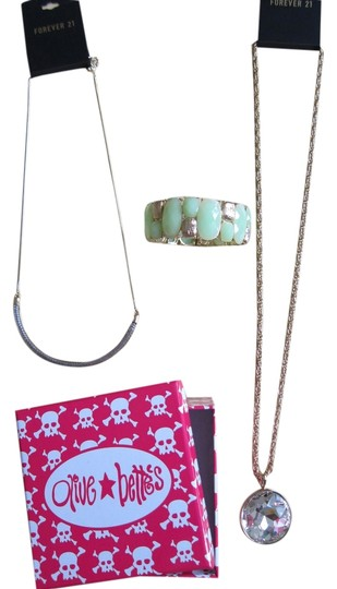 Forever 21 3 Sets of Jewelry + FREE Pink Skull Olive and Bettes Jewelry Box