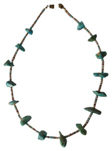 Other Native American Turquoise and Shell Necklace