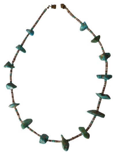 Preload https://item5.tradesy.com/images/turquoisebrownwhite-native-american-and-shell-necklace-4143184-0-0.jpg?width=440&height=440