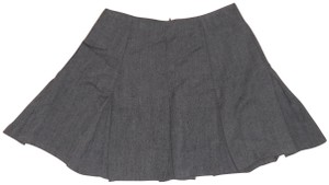 Contempo Casuals Vintage 80s Tweed Pleated Mini Skirt gray