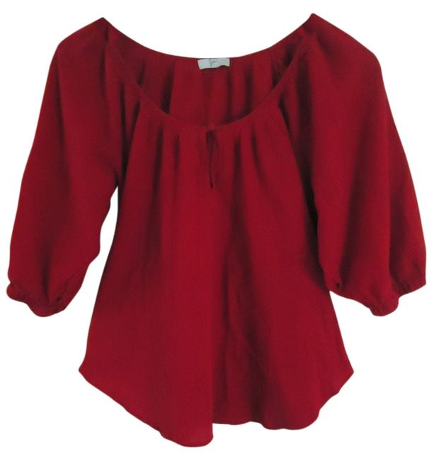 Joie Gauze Top Red