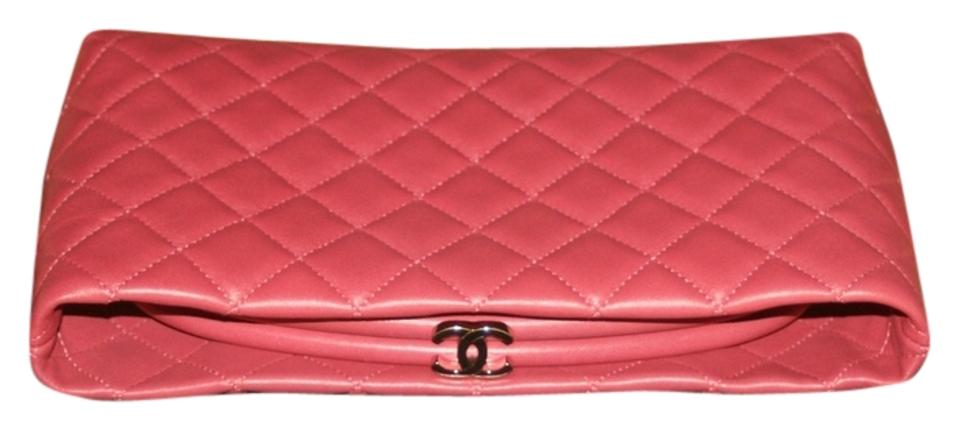 4c8ba9fb6c3c Chanel Pink Evening Clutch Kisslock Cc Quilted Mini Classic Timeless Frame  Bag Wallet