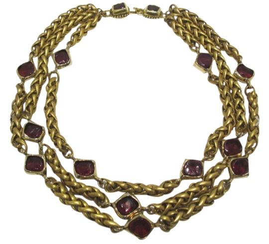 Preload https://img-static.tradesy.com/item/4143448/chanel-gold-red-rare-vintage-strand-plated-gripoix-necklace-0-0-540-540.jpg